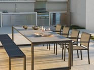 Rectangular aluminium garden table FUSE | Garden table - MANUTTI