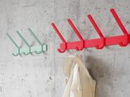 Wall-mounted steel coat rack UNI - e15
