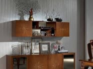 Oak wall cabinet with mirrored back NUBE - Carpanelli Classic