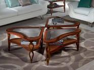 Oak coffee table for living room QUADRIFOGLIO | Coffee table - Carpanelli Classic