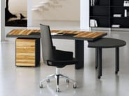 Wooden executive desk with drawers ARCO | Office desk with drawers - MASCAGNI