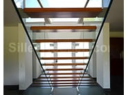 Tempered glass Open staircase Floating stairs - Siller Treppen