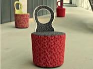 Upholstered fabric easy chair EYE - Johanson Design