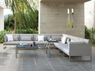 Corner sectional fabric garden armchair SQUAT | Corner garden armchair - MANUTTI