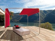 Stainless steel gazebo with sliding cover SHANGRILA - April Furniture