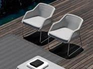 Sled base garden armchair MOOD | Garden armchair - MANUTTI