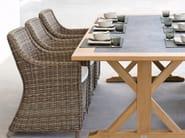 Wicker garden chair with armrests SAN DIEGO | Garden chair - MANUTTI
