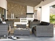 Wicker garden armchair SAN DIEGO | Garden armchair - MANUTTI