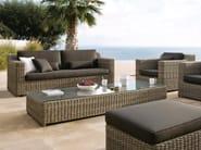 Wicker garden pouf / garden side table SAN DIEGO | Rectangular garden side table - MANUTTI