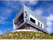 Panel for facade SCAGLIE IN ZINCO-TITANIO - RHEINZINK Italia