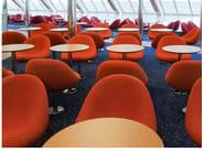 Upholstered fabric easy chair MEDIA   Swivel easy chair - Johanson Design