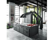 Cooker hood with integrated lighting MAMMUT MAXI - Minacciolo