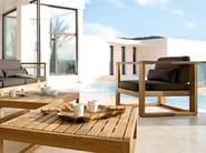 Modular teak garden armchair with armrests SIENA | Garden armchair - MANUTTI