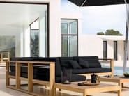 Corner teak garden armchair SIENA | Corner garden armchair - MANUTTI