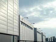 Stretched mesh for facade finish Continuous facade system - ITALFIM