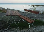 Oak garden bench BRYGGERI | Garden bench - Grythyttan Stålmöbler