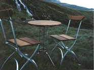 Round garden side table BRYGGERI | Garden side table - Grythyttan Stålmöbler