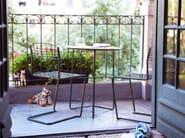 Cantilever wire mesh garden chair HIGH TECH | Garden chair - Grythyttan Stålmöbler