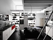 Multi-layer wood fitted kitchen MECCANICA - VALCUCINE