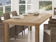 Rectangular teak garden table ASTI - MANUTTI