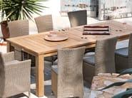 Rectangular teak garden table MILANO   Rectangular garden table - MANUTTI