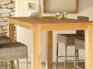 Rectangular teak high table MILANO | Teak garden table - MANUTTI