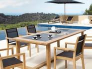 Rectangular teak garden table SIENA | Rectangular garden table - MANUTTI