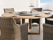 Round teak garden table SIENA | Round garden table - MANUTTI