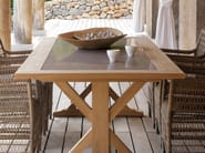 Rectangular teak garden table LIVORNO - MANUTTI