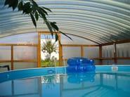 Roof in curved plastic laminate element ELYPLAST® - BRIANZA PLASTICA