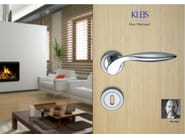 Brass door handle with lock SIRYA - KLEIS