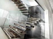 Marble hanging stairs LUXO STONE - OFFICINE SANDRINI