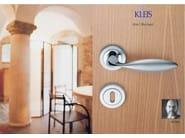 Brass door handle with lock LIBYA   Door handle - KLEIS