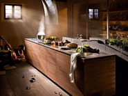 Walnut fitted kitchen ARTEMATICA NOCE TATTILE - VALCUCINE