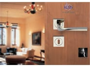 Metal door handle on rose LA | Door handle - KLEIS