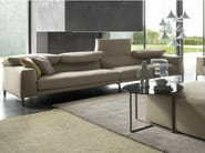 Convertible sofa with headrest VITA - Bonaldo