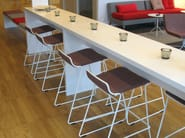 Sled base aluminium barstool SPEED BS - Johanson Design