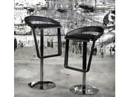 Height-adjustable swivel stool with footrest PIANO | Height-adjustable stool - Johanson Design