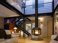 Central hanging fireplace AGORAFOCUS 850 - Focus