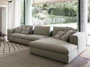 Sectional sofa LAND | Sofa with chaise longue - Bonaldo