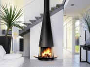 Wall-mounted fireplace with panoramic glass FILIOFOCUS 2000 MURAL VITRÉ - Focus