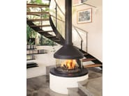 Central fireplace with panoramic glass MEIJIFOCUS - Focus