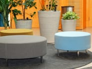 Upholstered fabric pouf O-80 - Johanson Design