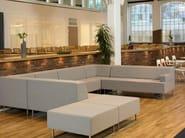 Upholstered fabric pouf U-SIT 70   Pouf - Johanson Design