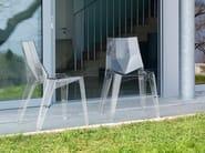 Stackable polycarbonate chair POLY - Bonaldo