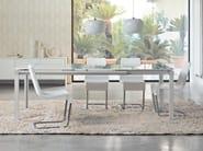 Cantilever upholstered chair SKIP | Cantilever chair - Bonaldo