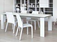 Extending rectangular table TWICE - Bonaldo