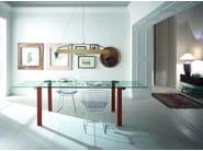 Extending glass table LIVINGSTONE - T.D. Tonelli Design