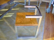 Stainless steel chair with armrests BUM - ICI ET LÀ