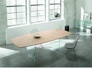 Design rectangular wooden table TAVOLANTE - T.D. Tonelli Design